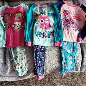 3 pairs of 4t PJ's, Sleepwear brand
